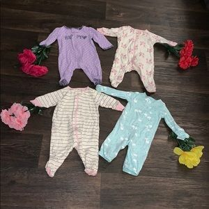 🥰😍Bundle of 4 Baby Girl Pajamas/Onesies!!🥰😍